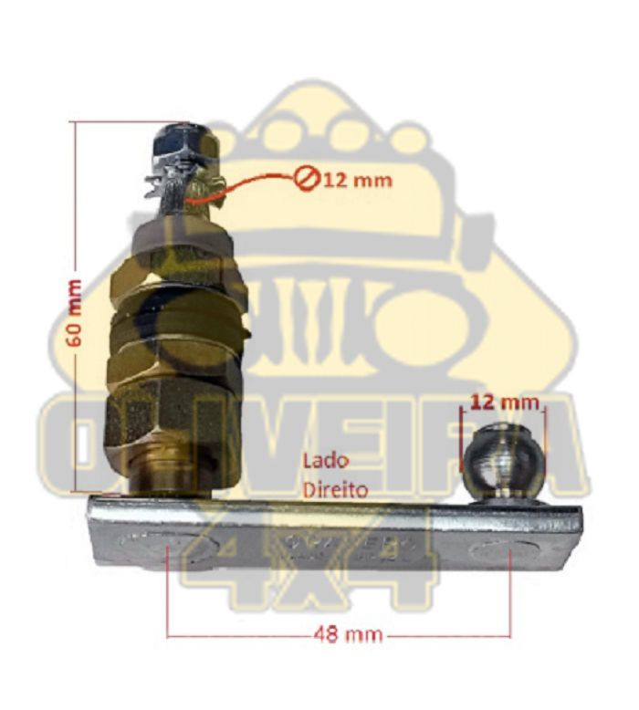 Pivo Limpador de Parabrisa Troller T4 após 2005/ Lado Direito