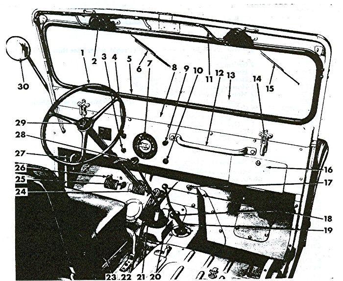 Prendedor Inferior Do Quadro Do Para Brisa Jeep Willys Cj2/3/5/6