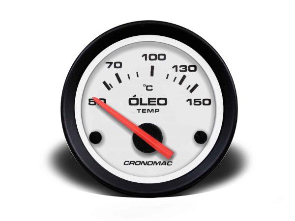 Termometro Eletrônico 52mm Oleo - Street Branco
