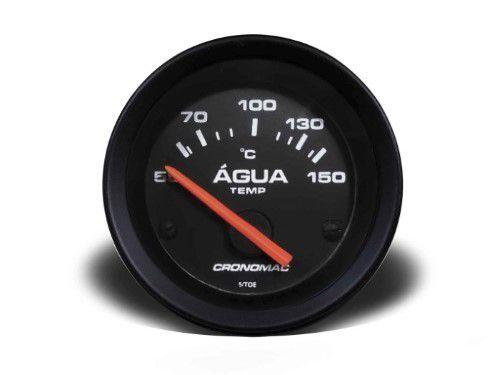 Termometro Eletrico 60mm Agua - Street Preto