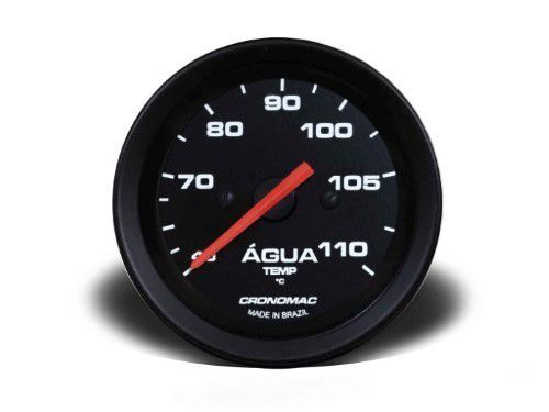 Termometro Mec 60mm Indicador Pressão Óleo 5m - Street Preto