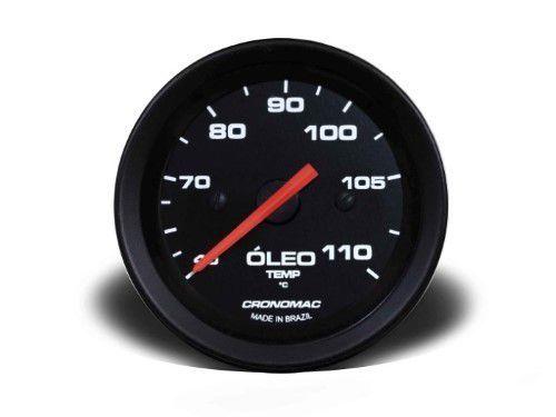 Termometro Mecânico 52mm Indicador Pressão Óleo 5m Str Preto