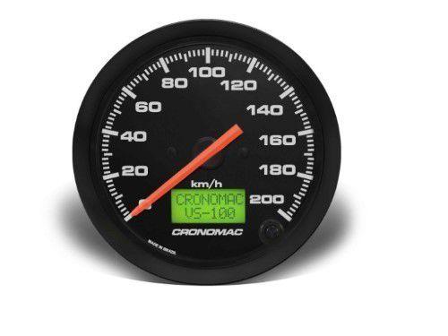 Velocímetro 100mm Eletrônicoônic 200kmh Display Digital - Street Preto