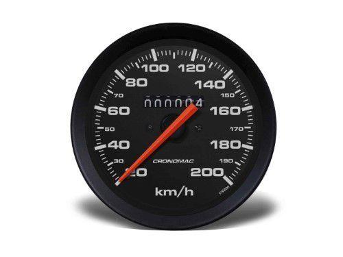 Velocimetro 100mm Mec W 0,5 200kmh - Street Preto