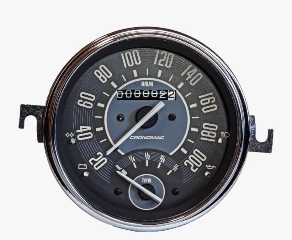 Velocímetro 110mm Mec. 200km/h C/ Ind. Combustível  Linha VW
