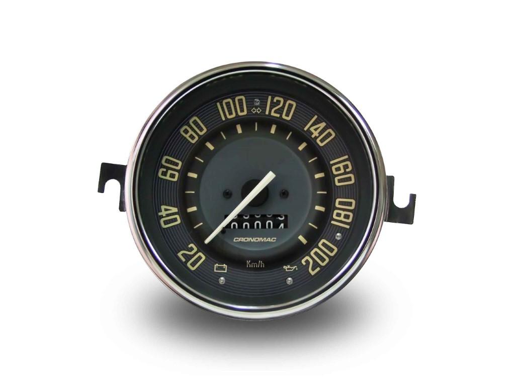 Velocímetro 110mm Mec. 200km/h Hodômetro Simples Linha VW