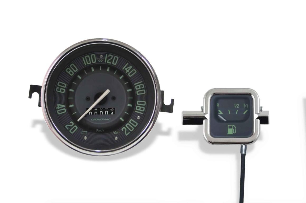 Velocímetro 200kmh/ Combust. Mec. VW Fusca/ Kombi/ Brasilia