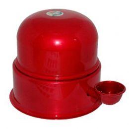 Bebedouro Vida Mansa Alumínio Vermelho Esmaltado