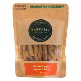 Petisco Barkeria Stick de Frango, Cenoura e Ervas 125g