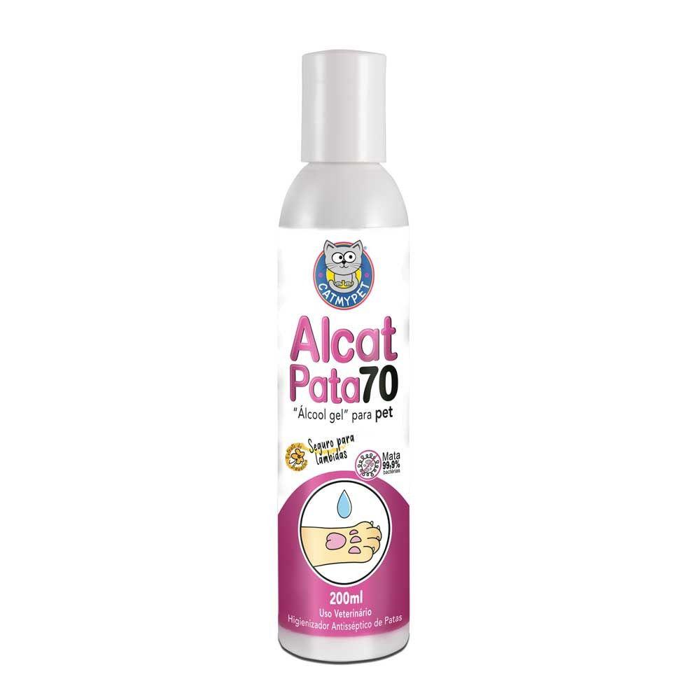 Álcool Gel para PetsAlcat Pata 70 - Higienizador Antisséptico para pets