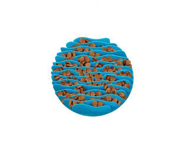 Comedouro Lento Fun Feeder Azul
