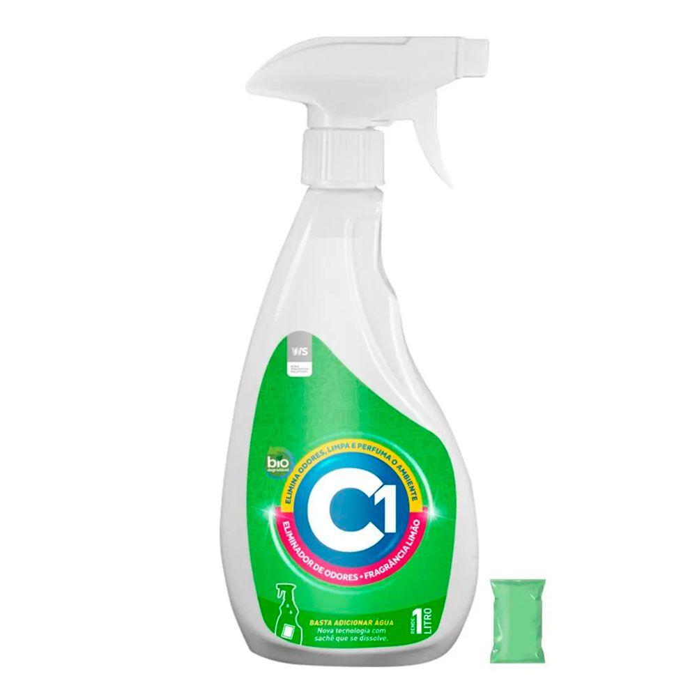 Kit Eliminador de Odor Sustentável Limão C1 1 Litro