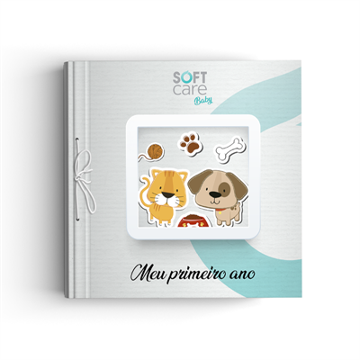 Kit Soft Care Baby Com ScrapBook Meu Primeiro Ano