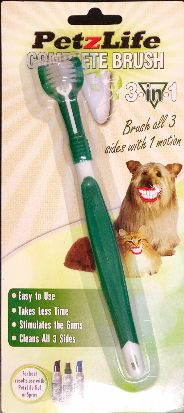 PetzLife Complete Toothbrush - Escova Cabeça Tripla