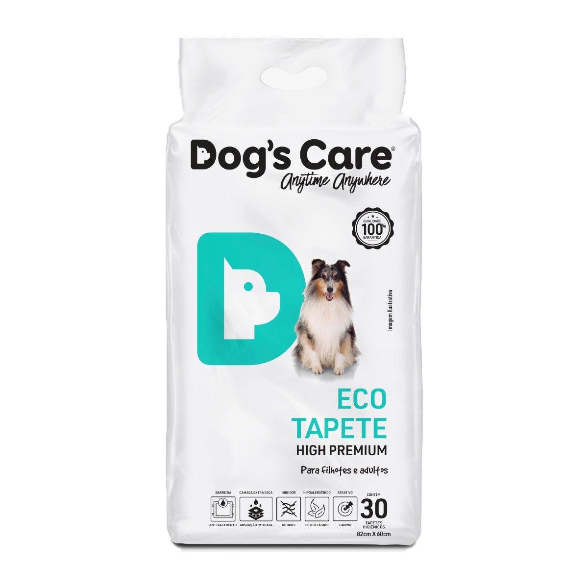 Tapete Higiênico descartável Eco High Premium Filhotes e Adultos Dog's Care 30 und