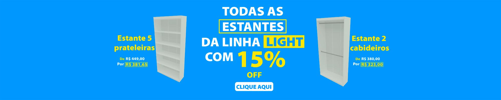 Promoção Estante Linha Light