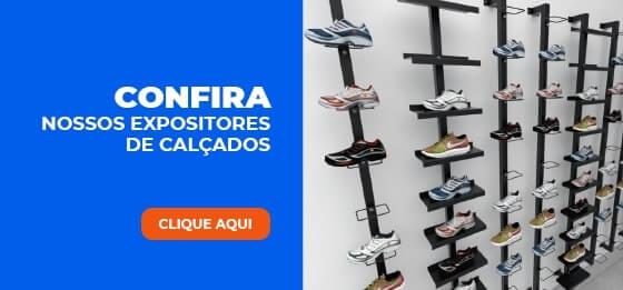 expositores de calçados você encontra aqui na lojas comac