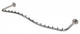 Arara de parede Comac modelo Onda tamanho 100 cm em alumínio