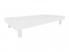 Base para vitrine Comac modelo retangular tamanho 90 x 15 x 50 cm