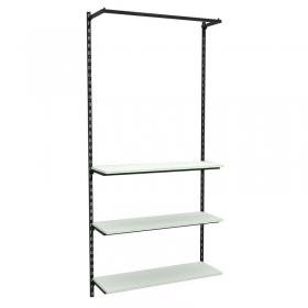 Conjunto Comac com 01 estantes cremalheira com 03 prateleiras e 01 arara 94x200 cm