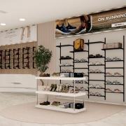 Conjunto com Balcão, Estante e Prateleira para Loja de Calçados