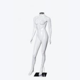 Manequim de fibra feminino Comac na cor branca sem cabeça modelo DP.BR com busto diferenciado