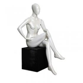 Manequim de fibra feminino Comac na cor branco ET  modelo 11SENT.BR
