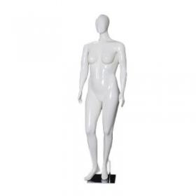 Manequim de fibra feminino Comac na cor branco ET Plus Size modelo 11NBR