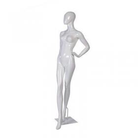 Manequim de fibra feminino Comac na cor branco modelo ET 11G.BR