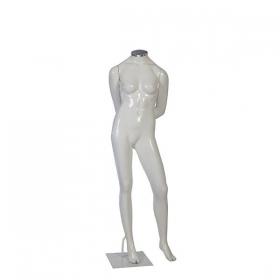Manequim de fibra feminino Comac na cor branco sem cabeça modelo K.BR