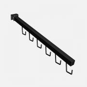 Pendurador RT inclinado quadrado para Bolsas e Cintos de travessa de cremalheira 39 cm Comac
