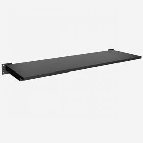 Prateleira MDF Preta/Branca 90x30 cm Quadrada Leve Simples Comac