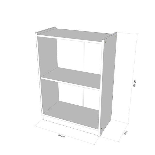 Armário 100% MDF modelo Biblioteca New baixo 60x85x30 cm Comac