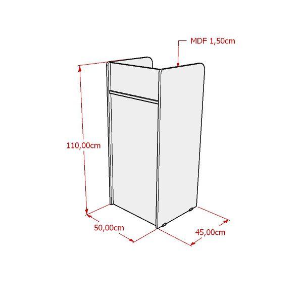 Balcão caixa 100% MDF modelo Curto 50x110x45 cm Comac