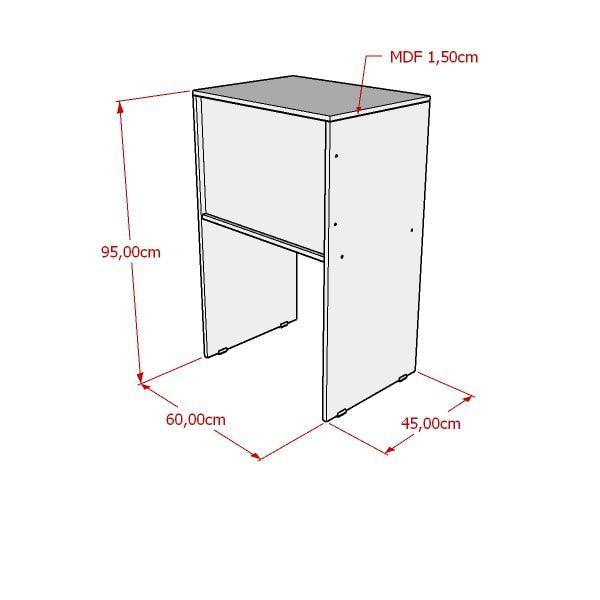 Balcão Caixa Para Loja 100% MDF Modelo Light 60x95x45 cm Comac