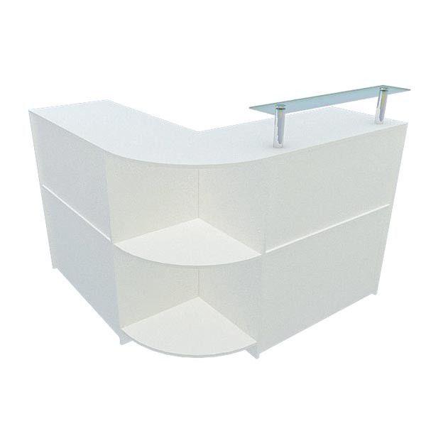 Balcão caixa 100% MDF modelo New em L tamanho 134+134x95x45 cm Comac
