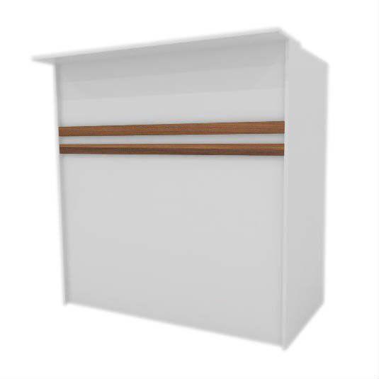 Balcão caixa 100% MDF modelo Pacote 120x120x60 cm Comac