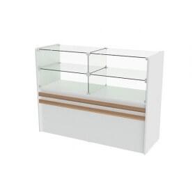 Balcão De MDF Com Vidro Para Loja 125x95x45 cm Comac