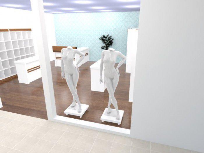 Base para vitrine Comac modelo quadrado tamanho 50 x 25 x 50 cm