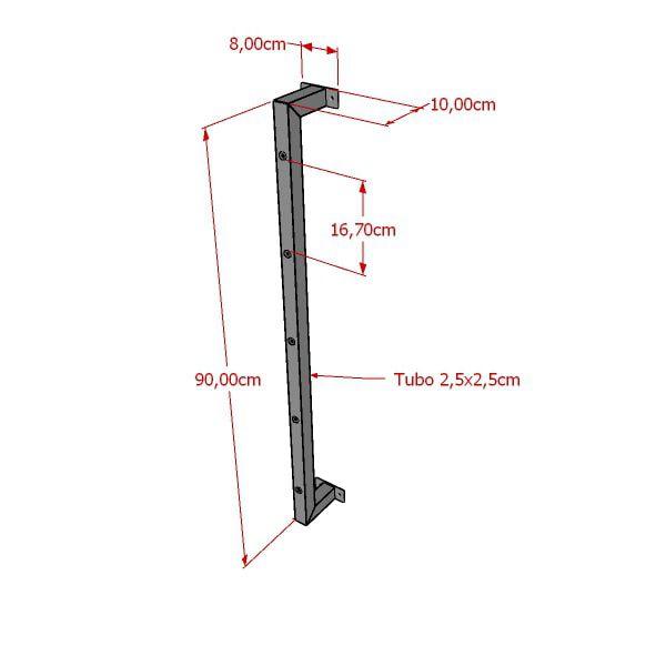 Coluna expositora tubular Screw 90 cm Comac