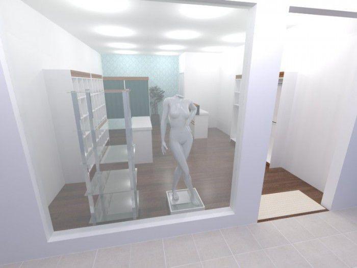 Estante com 5 prateleiras de vidro e estrutura em alumínio redondo 60x175x60 cm Comac