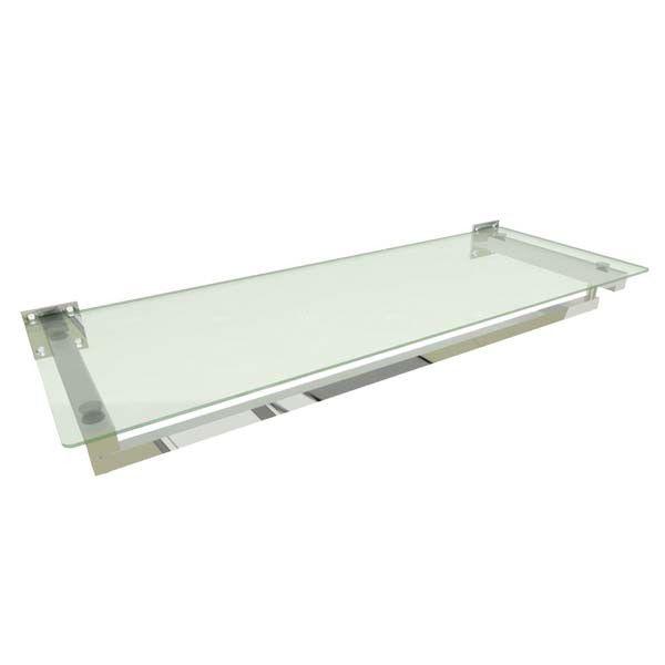 Estante de parede Comac para Closet modelo quadrada Leve 80cm com 1 prateleira e 1 arara em alumínio