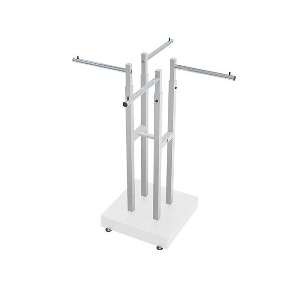 Expositor Comac modelo Robust com 4 braços e base em MDF