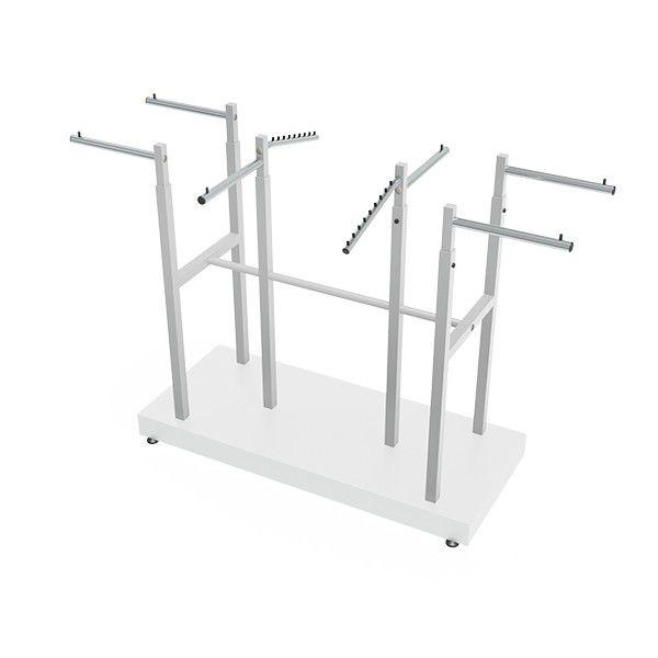 Expositor Comac modelo Robust com 8 braços e base em MDF
