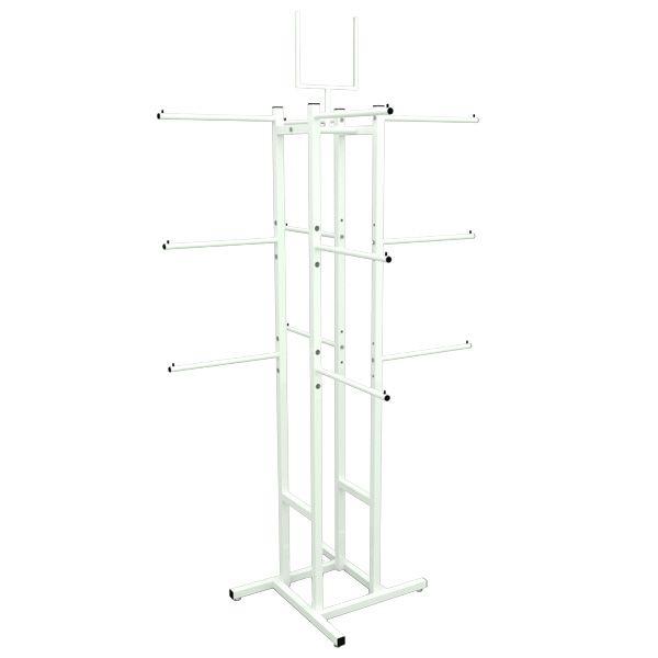 Expositor De Loja Cabideiro Vertical Modelo Simétrico 12 Braços