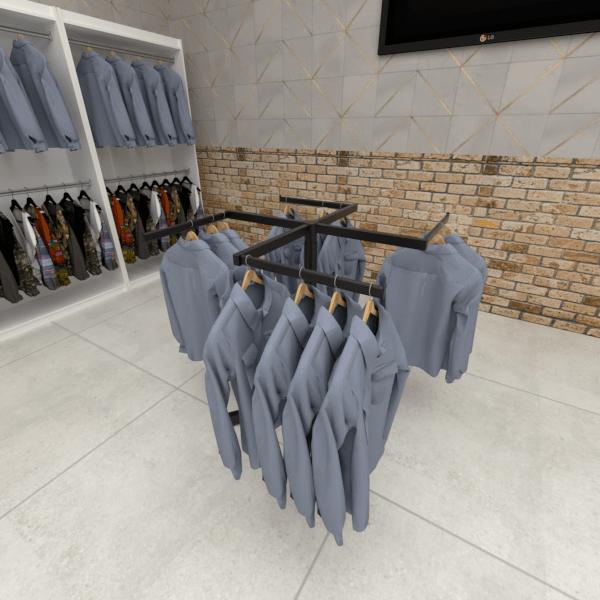 Expositor de Camisa e Calça Modelo Hélice