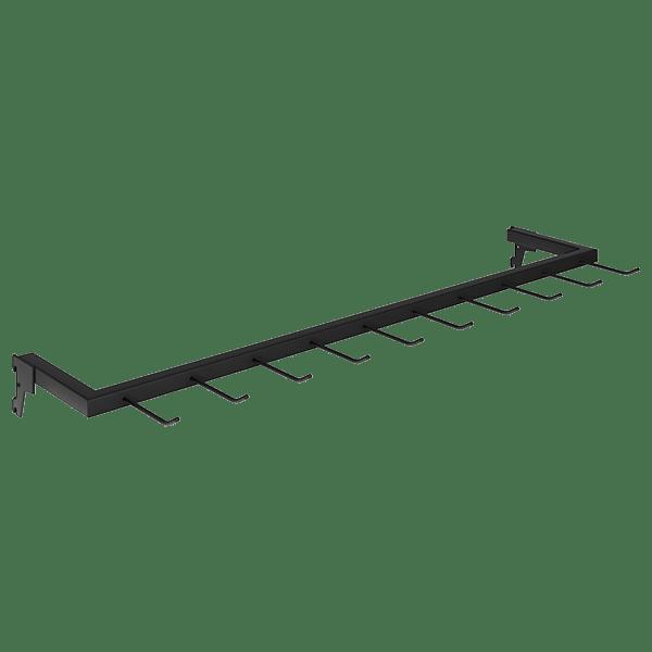 Expositor de Bolsas e Cintos Para Loja de Cremalheira 90 x 17 cm Comac