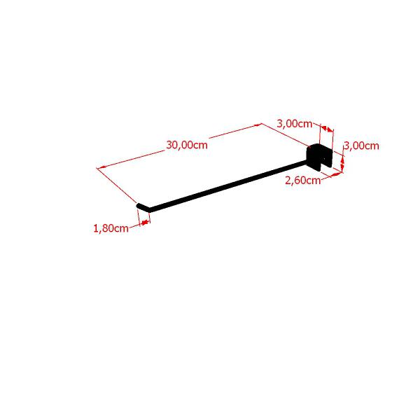 Gancho RT para travessa de cremalheira 30 cm Comac