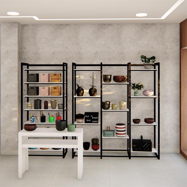 Conjunto de Móveis Para Loja De Decoração E Utilidades Domésticas