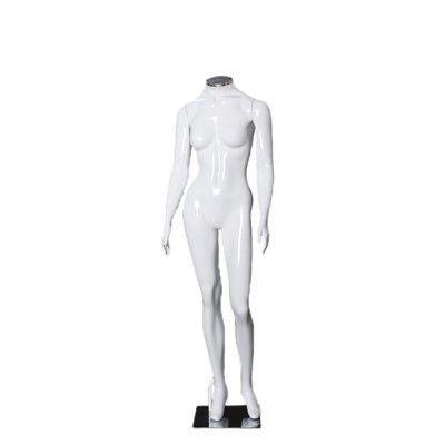 Manequim de fibra feminino Comac na cor branca sem cabeça modelo AP.BR com busto diferenciado
